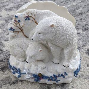 Pfaltzgraff Winter Frost Polar Bear Napkin Holder